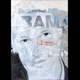 OBAMA 20 / 2011 / Oil on canvas / 100 x 140 cm