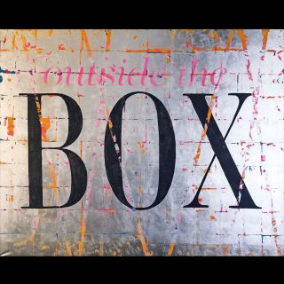 The Box / 2017 / Acryl and imitation silver leaf on canvas / 200 x 160 cm