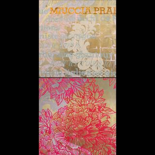 Miuccia / 20018 / Acryl, oil and imitation gold leaf on canvas / 100 x 200 cm