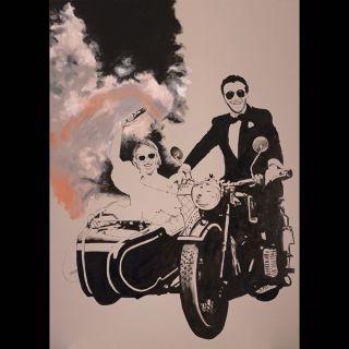 Smoke Bomb / 2020 / Acryl and oil on canvas / 100 x 140 cm