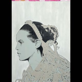 Küfferle / 2020 / Acryl and oil on canvas / 100 x 140 cm