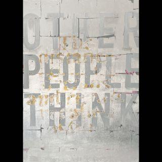 Think / 2021 / Acryl, oil and imitation silver leaf on canvas / 100 x 140 cm