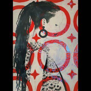 Star / 2021 / Acryl and oil on canvas / 100 x 140 cm