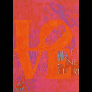 Love 6 / 2021 / Acryl and oil on canvas / 100 x 140 cm