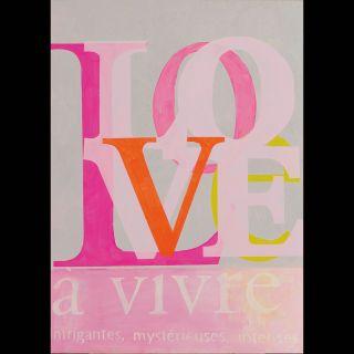 Love 2 / 2021 / Acryl and oil on canvas / 100 x 140 cm