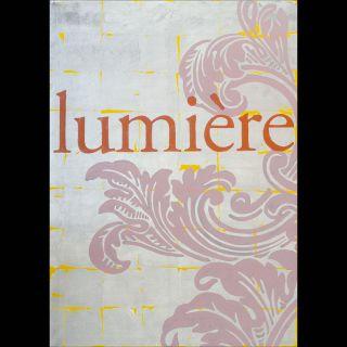 lumière / 2016 / Acryl and limitation leaf silver / 100 x 140 cm