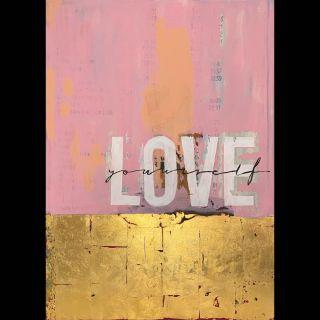 Love 5 / 2021 / Acryl and imitation gold on canvas / 100 x 140 cm