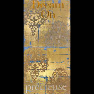 Dream on / 2018 / Acryl, oil and imitation gold leaf on canvas / 100 x 200 cm