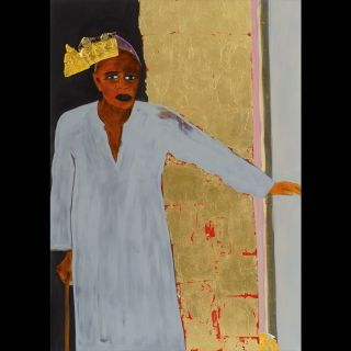 ARABER / 2007 / Oil and imitation gold leaf on canvas / 100 x 140 cm
